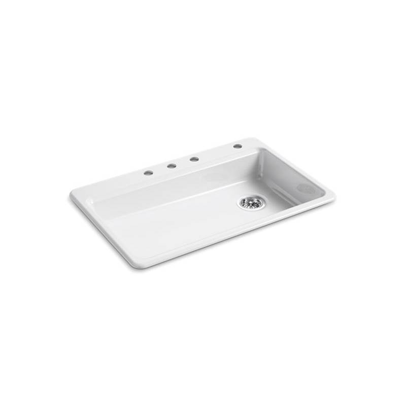 Kohler Dual Mount Kitchen Sinks item 8689-4-0