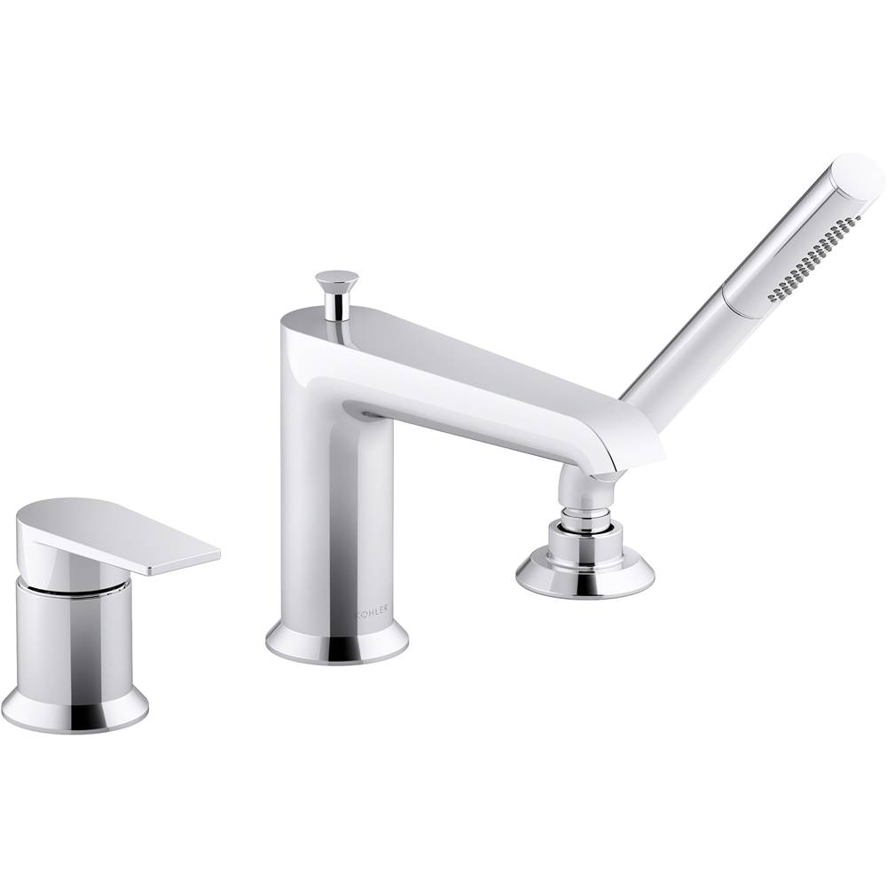 Kohler Deck Mount Roman Tub Faucets With Hand Showers item 97070-4-CP