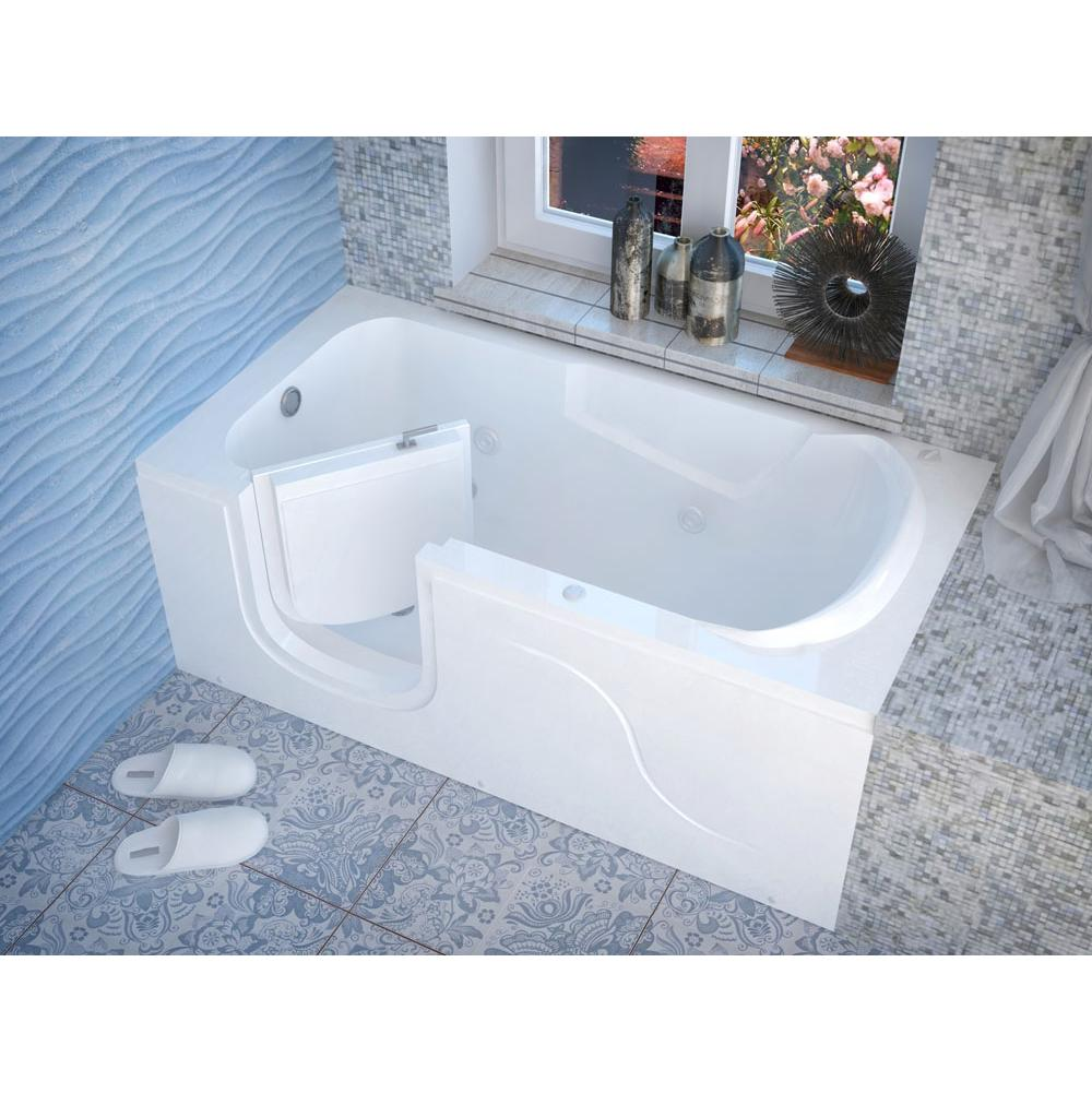 Meditub Walk In Soaking Tubs item 3060SILWH