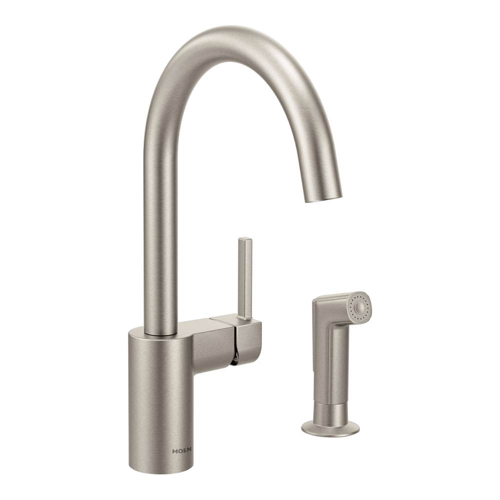 Moen Single Hole Kitchen Faucets item 7165SRS