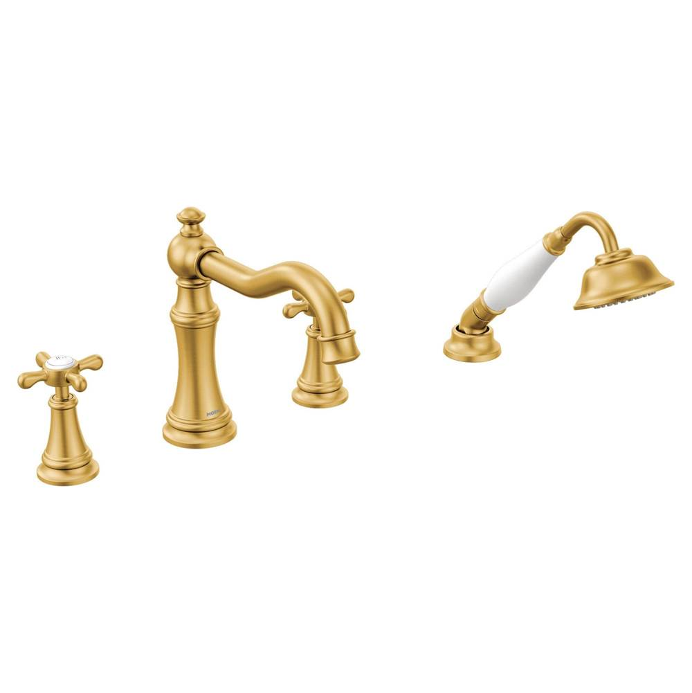 Moen  Roman Tub Faucets With Hand Showers item TS21102BG