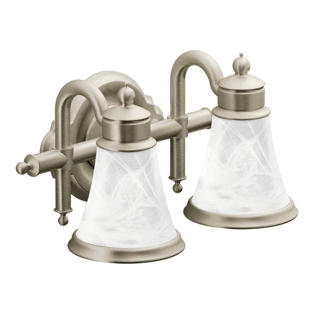 Moen Two Light Vanity Bathroom Lights Item YB9862BN