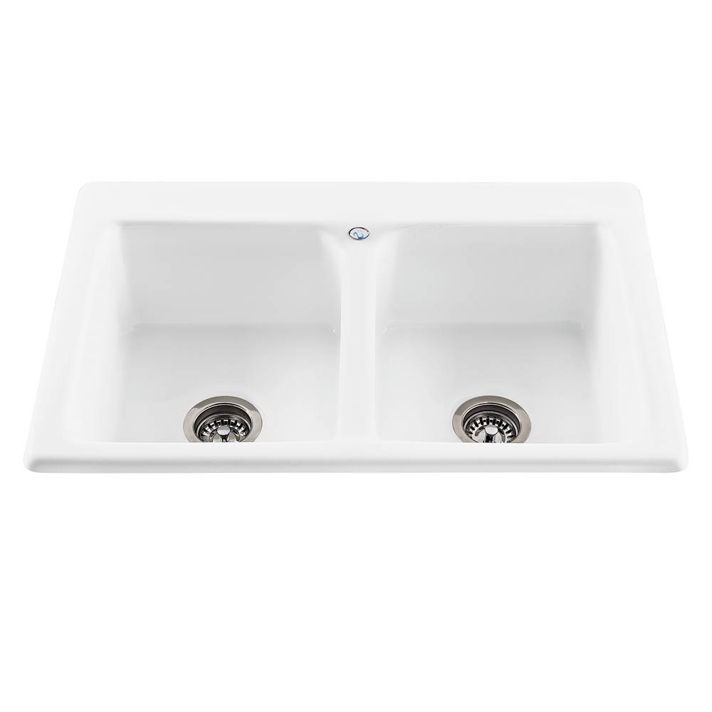 MTI Baths Drop In Kitchen Sinks item MBKS30-WH