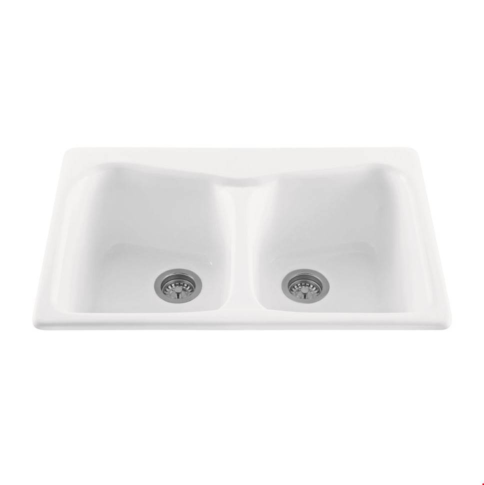 MTI Baths Drop In Kitchen Sinks item MBKS80-WH