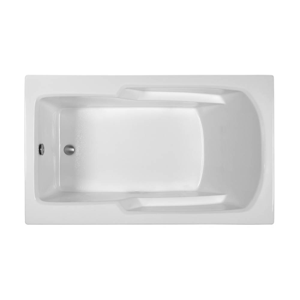 MTI Baths Drop In Whirlpool Bathtubs item MBWRR6036E20-WH