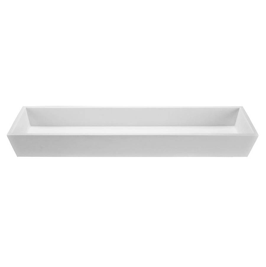MTI Baths  Bathroom Sinks item MTCS743-WH-GL