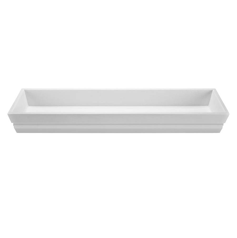 MTI Baths  Bathroom Sinks item MTCS744-WH-GL