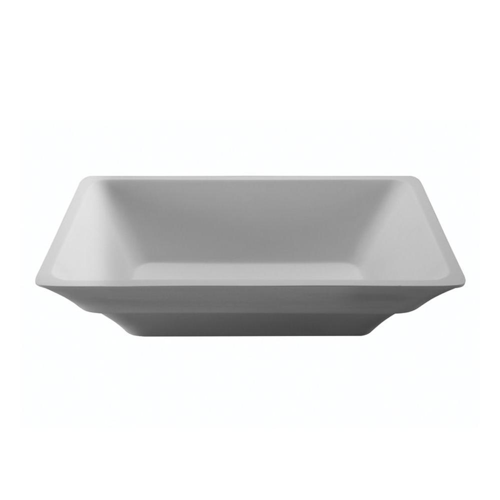MTI Baths Vessel Bathroom Sinks item MTCS740-WH-GL