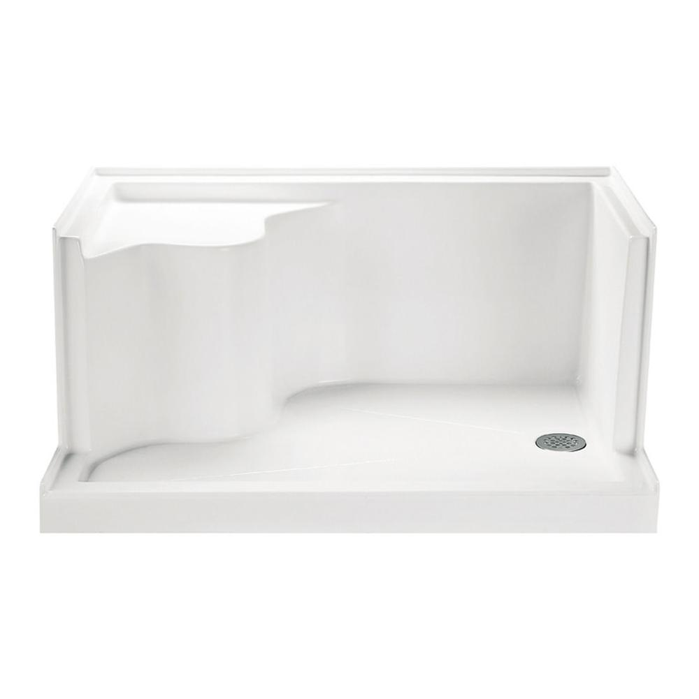 MTI Baths  Shower Bases item SB4832SEATWHRH