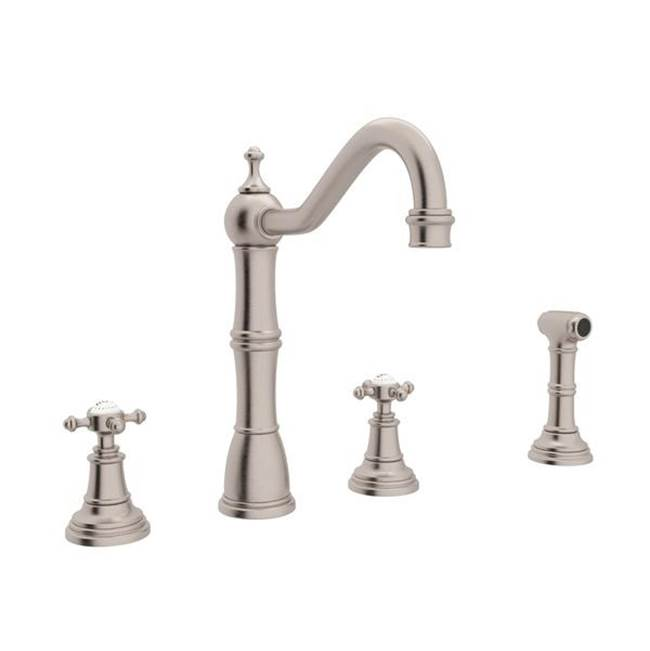 Rohl Deck Mount Kitchen Faucets item U.4775X-STN-2