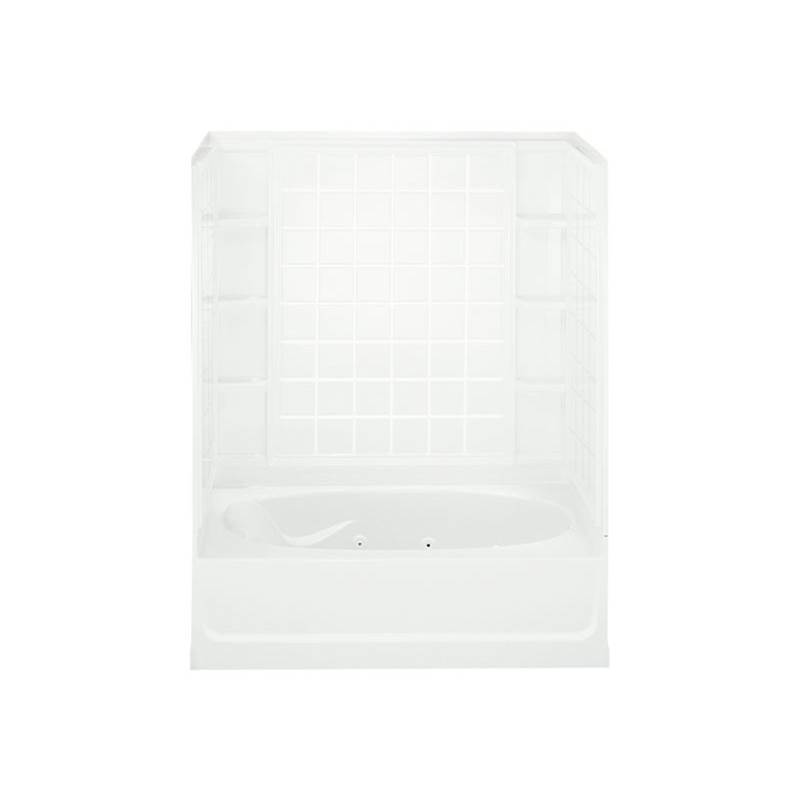 Sterling Plumbing Three Wall Alcove Whirlpool Bathtubs item 76110120-0