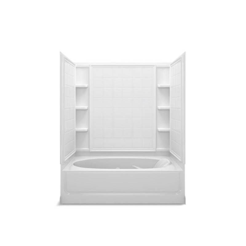 Sterling Plumbing Three Wall Alcove Whirlpool Bathtubs item 76100110-96