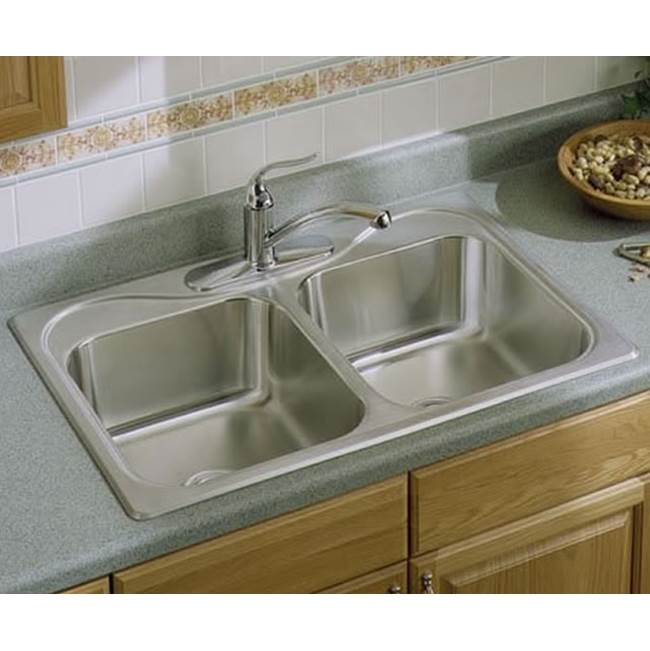 Sterling Plumbing Drop In Kitchen Sinks item F11401-4-NA