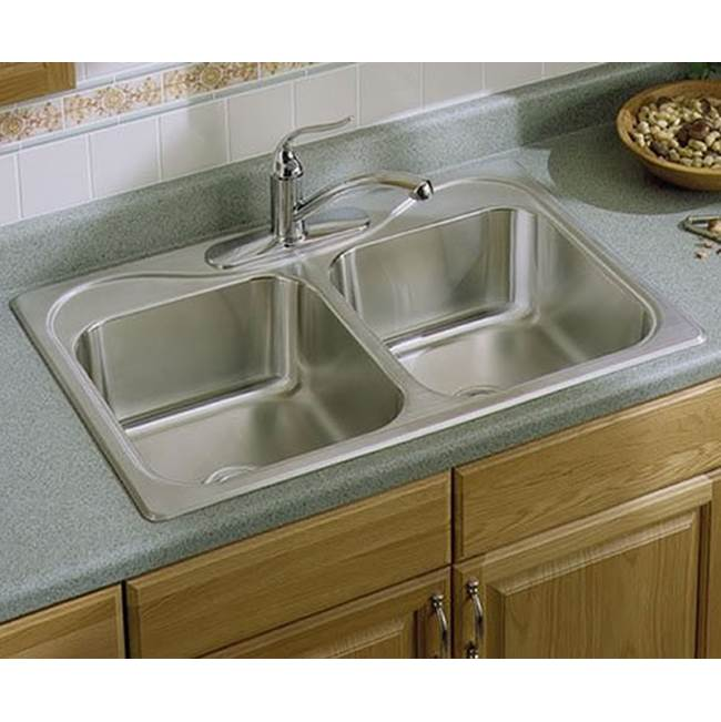 Sterling Plumbing Drop In Kitchen Sinks item F11402-3-NA