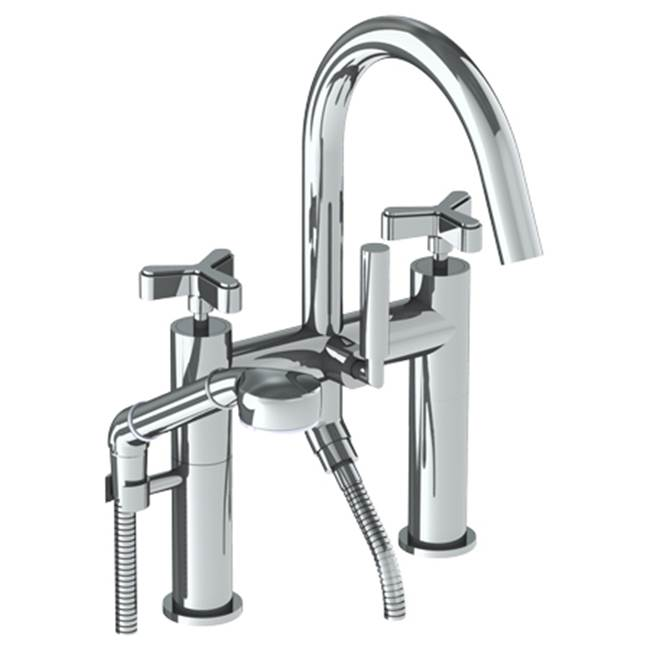 Watermark Deck Mount Roman Tub Faucets With Hand Showers item 30-8.2-TR25-AGN