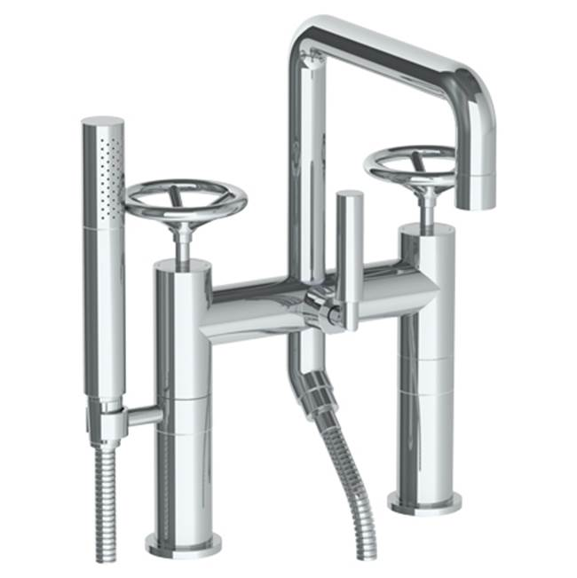 Watermark Deck Mount Roman Tub Faucets With Hand Showers item 31-8.26.2-BK-PT
